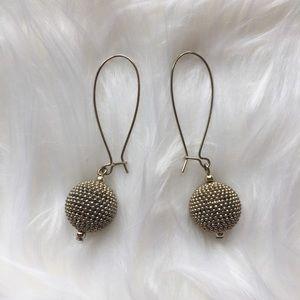 Gold Sphere Earrings by Express